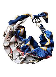 """Атласний шарф """"Синій океан"""", атласний хустка, шарф-кольє, шарф-чокер, шийну хустку My Scarf"""