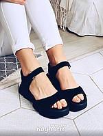 Черные замшевые босоножки 38 размер, фото 1