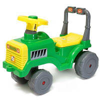Машинка для катания Бэби трактор модель Орион 931зелен-желт