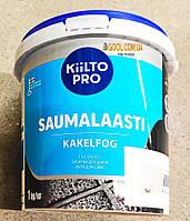 Затирка для швов плитки Kiilto Pro Saumalaasti цвет белый № 10 ведро 1 кг.