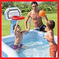 Детский надувной бассейн Бассейн с баскетбольным кольцом Надувной бассейн для малышей Детский бассейн