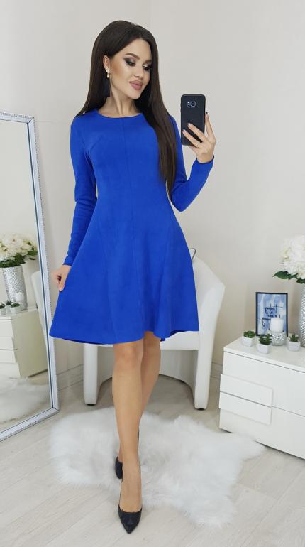 Платье idiali синее цвет электрик