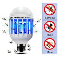 Антимоскитная лампа ловушка от комаров и энергосберегающая лампочка 2 в 1 Е27 15Вт ZAPPLIGHT, фото 1