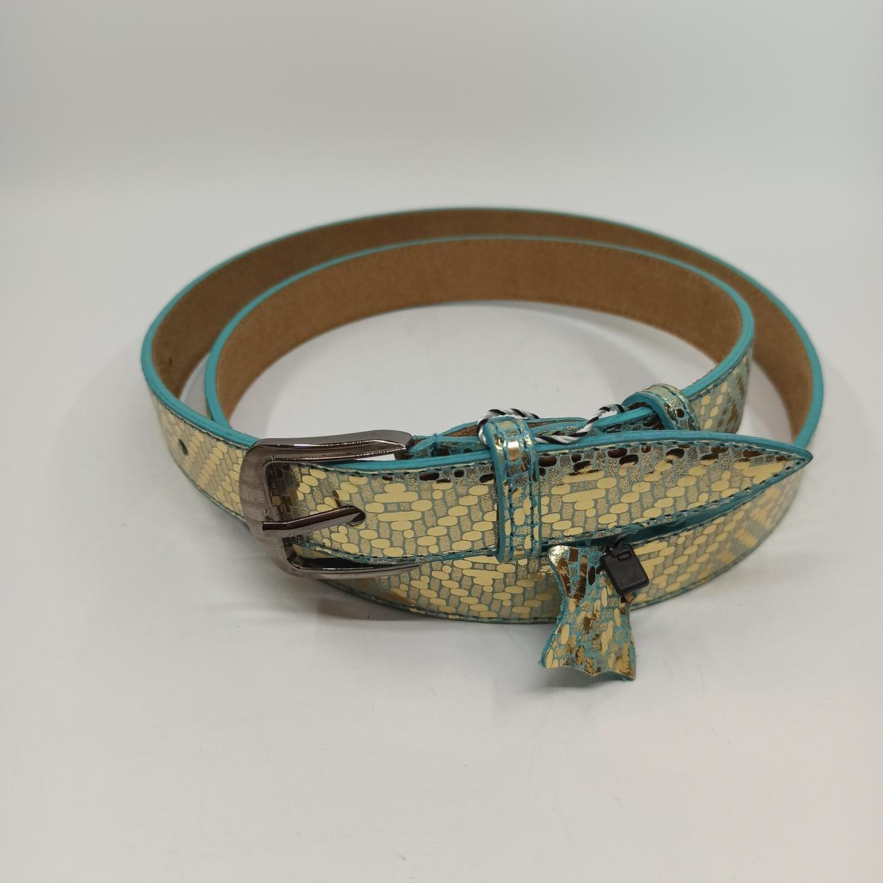 Кожаный женский ремень. Модель LW010