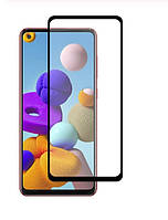 Защитное стекло с рамкой для Samsung Galaxy A21