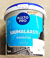 Затирка для швов плитки Kiilto Pro Saumalaasti цвет желтый № 14 ведро 1 кг.