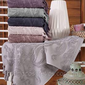 "Полотенце махровое баня.  Vip Cotton ""VASE"" :: Sikel. 70*140. Турция. Плотность: 500 г/м2"