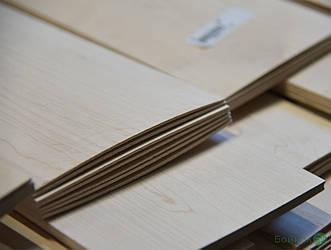 Пиляний шпон Клен (ламель) 2,5 мм  I сорт - 2,10 м+