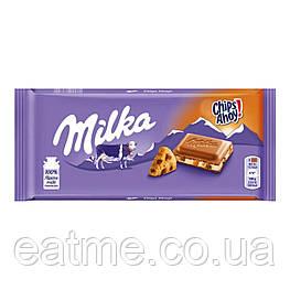 Milka Chips Ahoy c молочным кремом печеньем и кусочками шоколада