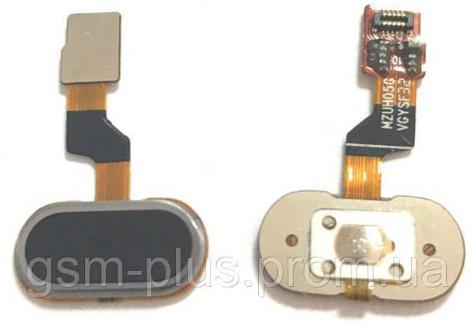 Шлейф Meizu M3s / U10 центральная кнопка (Home) Black