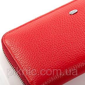 Женский кожаный кошелек на молнии Dr Bond. Из натуральной кожи. Красный, фото 2