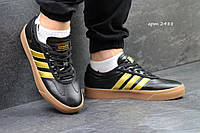 Кроссовки Adidas Adi-Ease Universal ADV, черные с золотом, 41р. по стельке 26см