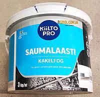 Затирка для швов плитки Kiilto Pro Saumalaasti цвет темно коричневый № 32 ведро 3 кг., фото 1