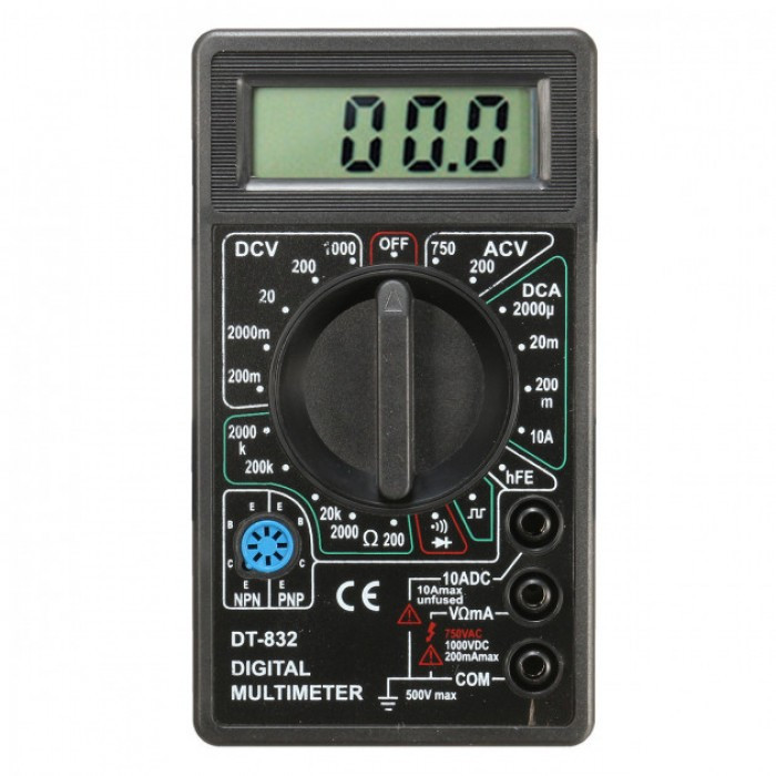 Цифровой мультиметр (тестер) DT-832, цена 187,63 грн., купить в Киеве —  Prom.ua (ID#1109111092)