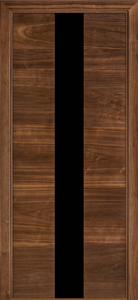 Дверь межкомнатная Terminus  Модель 23 Орех американский цвет (застекленная)