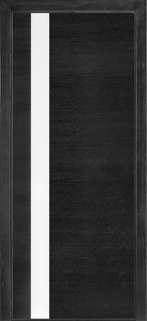 Дверь межкомнатная Terminus Модель 21 Дуб Nero цвет (застекленная)