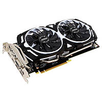 Видеокарта PCIe Nvidia GeForce GTX 1060 3GB MSI GeForce GTX 1060 ARMOR 3G OCV1 (912-V328-053) GDDR5 192bit DVI-D 2*HDMI 2*DP бу