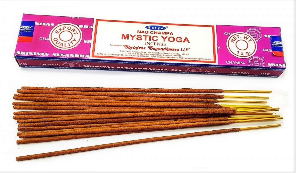 Благовонные палочки Mistic Yoga, Мистическая Йога от Satya