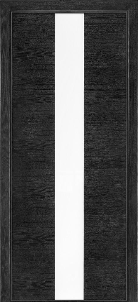Дверь межкомнатная Terminus Модель 23 Дуб Nero цвет (застекленная)
