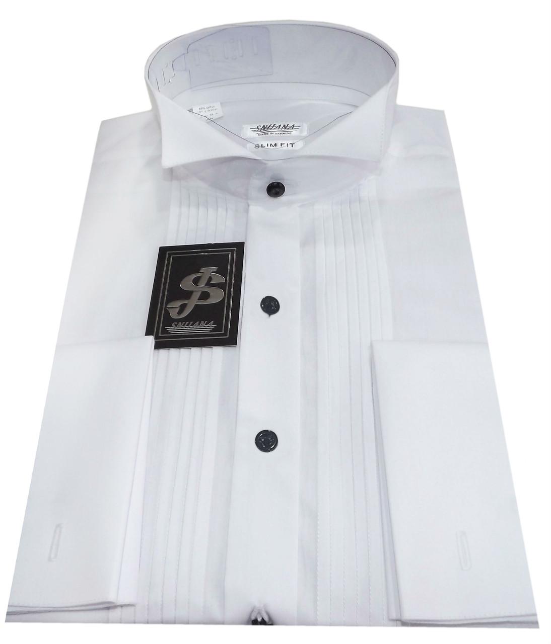 Рубашка мужская белая под бабочку