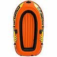 Двухместная небольшая надувная лодка Intex 58356 Explorer Pro 200 (196*102*33 см), до 120 кг, оранжевая, фото 2