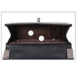 Модная маленькая женская сумка. Сумка женская стильная из экокожи. Сумочка женская (черная), фото 6