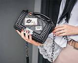 Модная маленькая женская сумка. Сумка женская стильная из экокожи. Сумочка женская (черная), фото 2