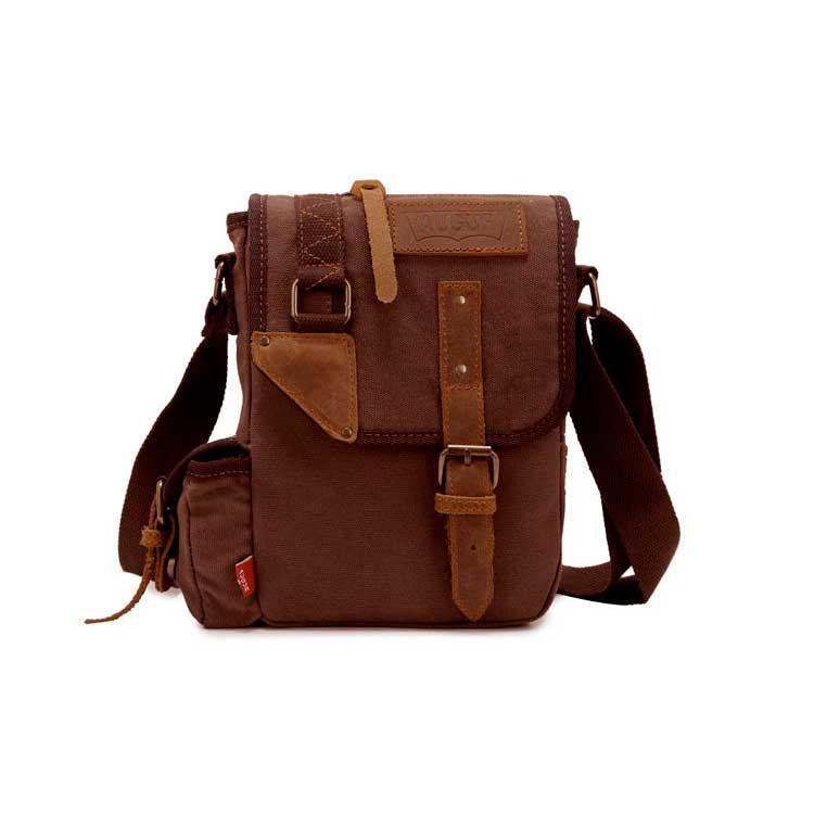 Мужская сумка на плечо Augur коричневого цвета