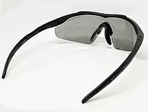 Очки тактические, темные 5.11, 3 линзы в комплекте - реплика (glasses511), фото 3