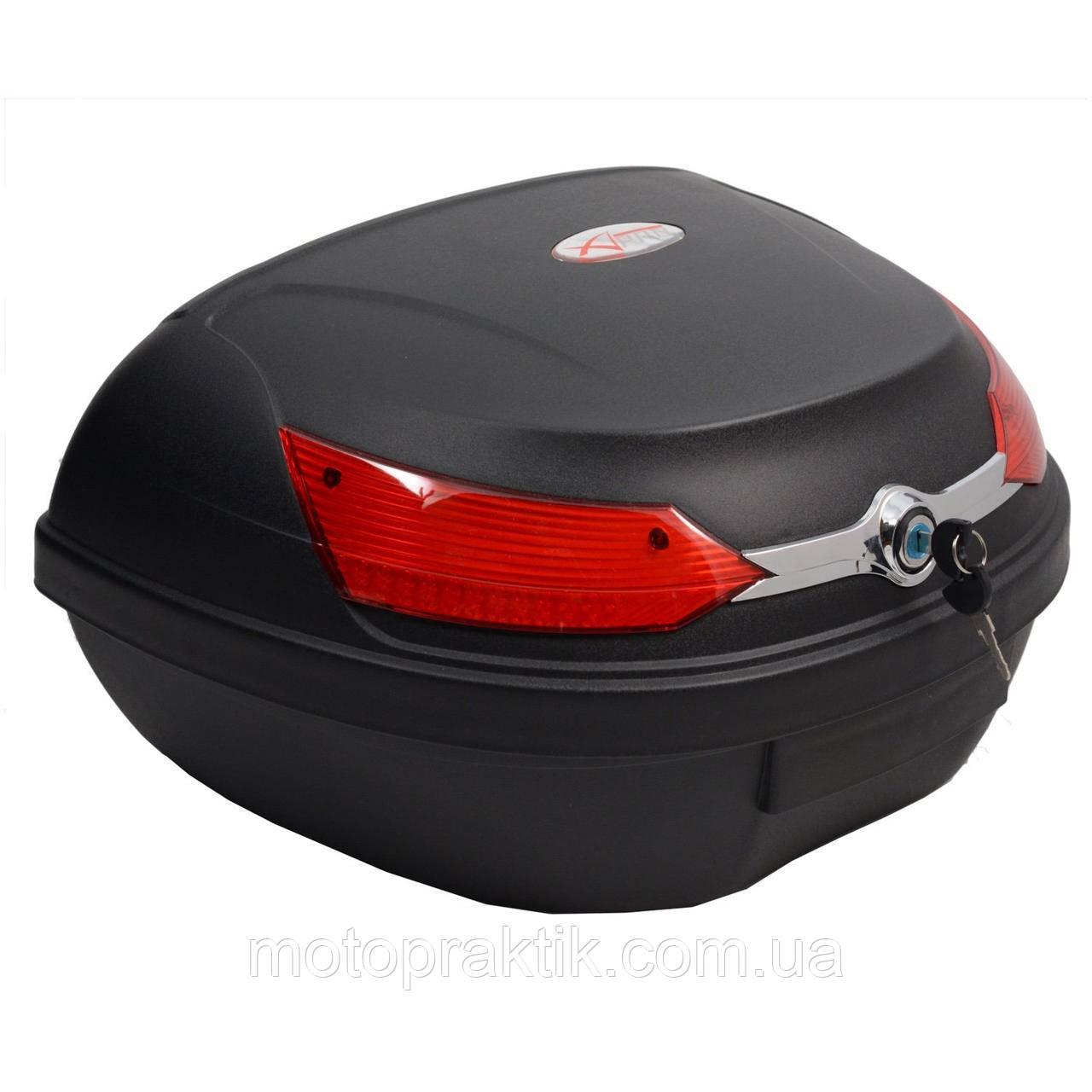 Кофр пластиковый (ТопБокс) FXW HF- 818 Черный матовый 45л (на два шлема)
