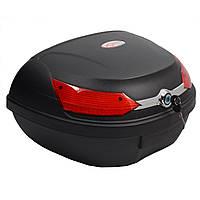 Кофр пластиковый (ТопБокс) FXW HF- 818 Черный матовый 45л (на два шлема), фото 1