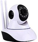 Камера відеоспостереження Wi-fi ip поворотна з мікрофоном і динаміком з інфрачервоною підсвіткою ОПТ, фото 3