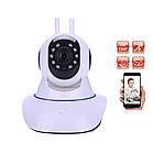 Камера відеоспостереження Wi-fi ip поворотна з мікрофоном і динаміком з інфрачервоною підсвіткою ОПТ, фото 4
