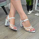 Женские босоножки на высоком каблуке, натуральная замша и лаковая кожа. 39 размер, фото 2