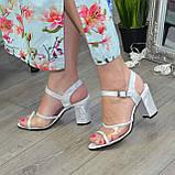 Женские босоножки на высоком каблуке, натуральная замша и лаковая кожа. 39 размер, фото 6