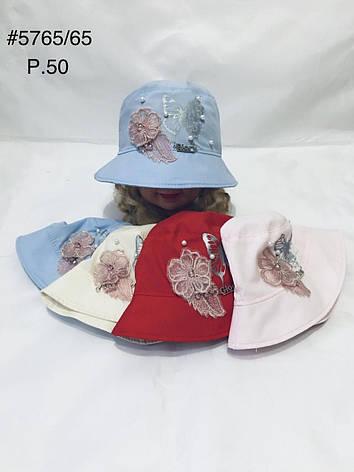Панамка для девочки Цветы р. 50, фото 2
