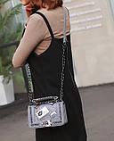 Модна маленька жіноча сумка. Сумка жіноча стильна з екошкіри. Сумочка жіноча (рожева), фото 4