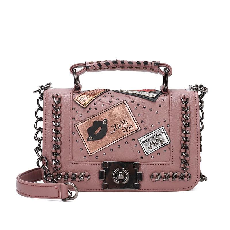 Модна маленька жіноча сумка. Сумка жіноча стильна з екошкіри. Сумочка жіноча (рожева)