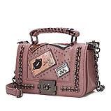 Модна маленька жіноча сумка. Сумка жіноча стильна з екошкіри. Сумочка жіноча (рожева), фото 2