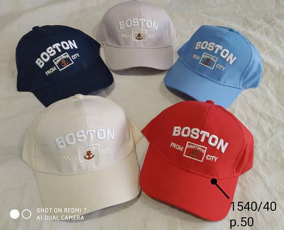 Кепка для мальчика Boston р. 50 опт, фото 2