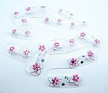 Ногти накладные в пакете, 12 шт с рисунком цветочки клейкой основой, фото 2