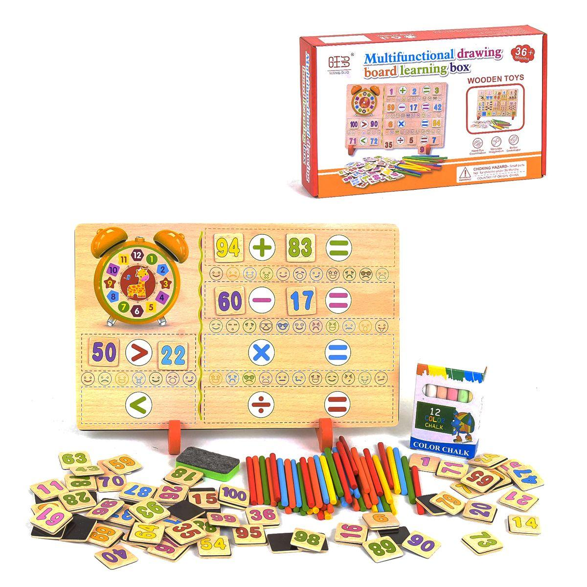 Деревянная игра Доска-Математика С 35666