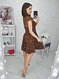 Платье летнее с пышной юбкой из натуральной ткани цветочный принт р.42-44,46-48,50-52 код 285/1Э, фото 9