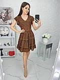Платье летнее с пышной юбкой из натуральной ткани цветочный принт р.42-44,46-48,50-52 код 285/1Э, фото 8