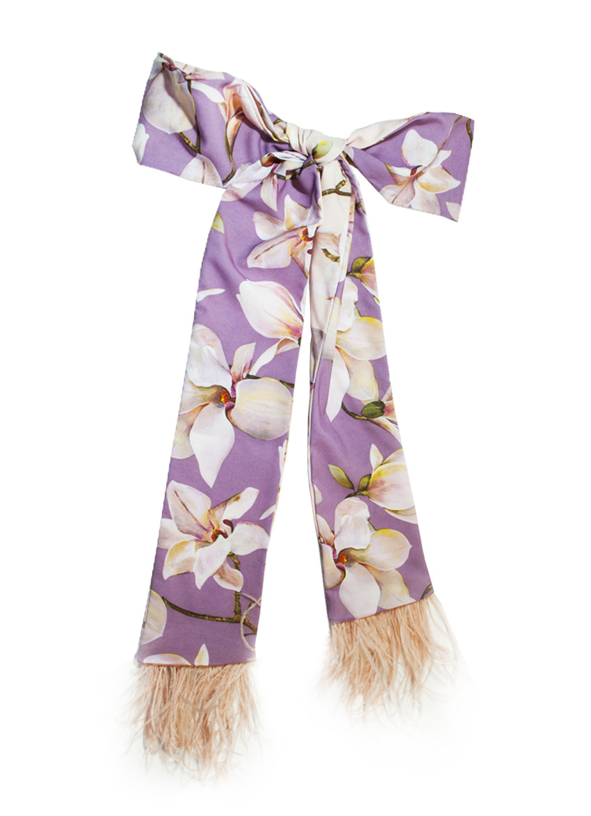 Краватка Твилли з пір'ям, шарфик-краватка, шарф-стрічка My Scarf