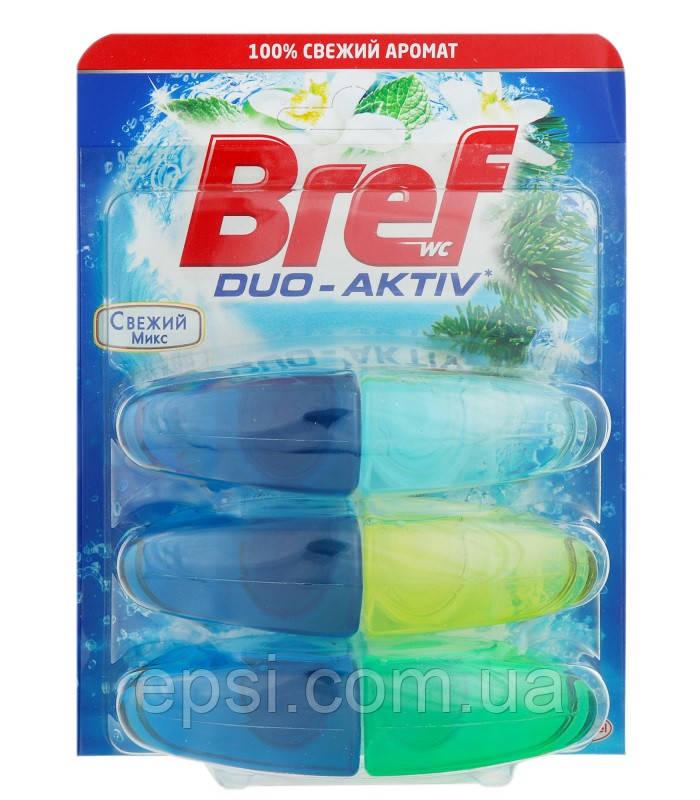 Подвесной туалетный блок Bref Duo-Aktiv Свежий микс 3 запаски, 3х50 мл