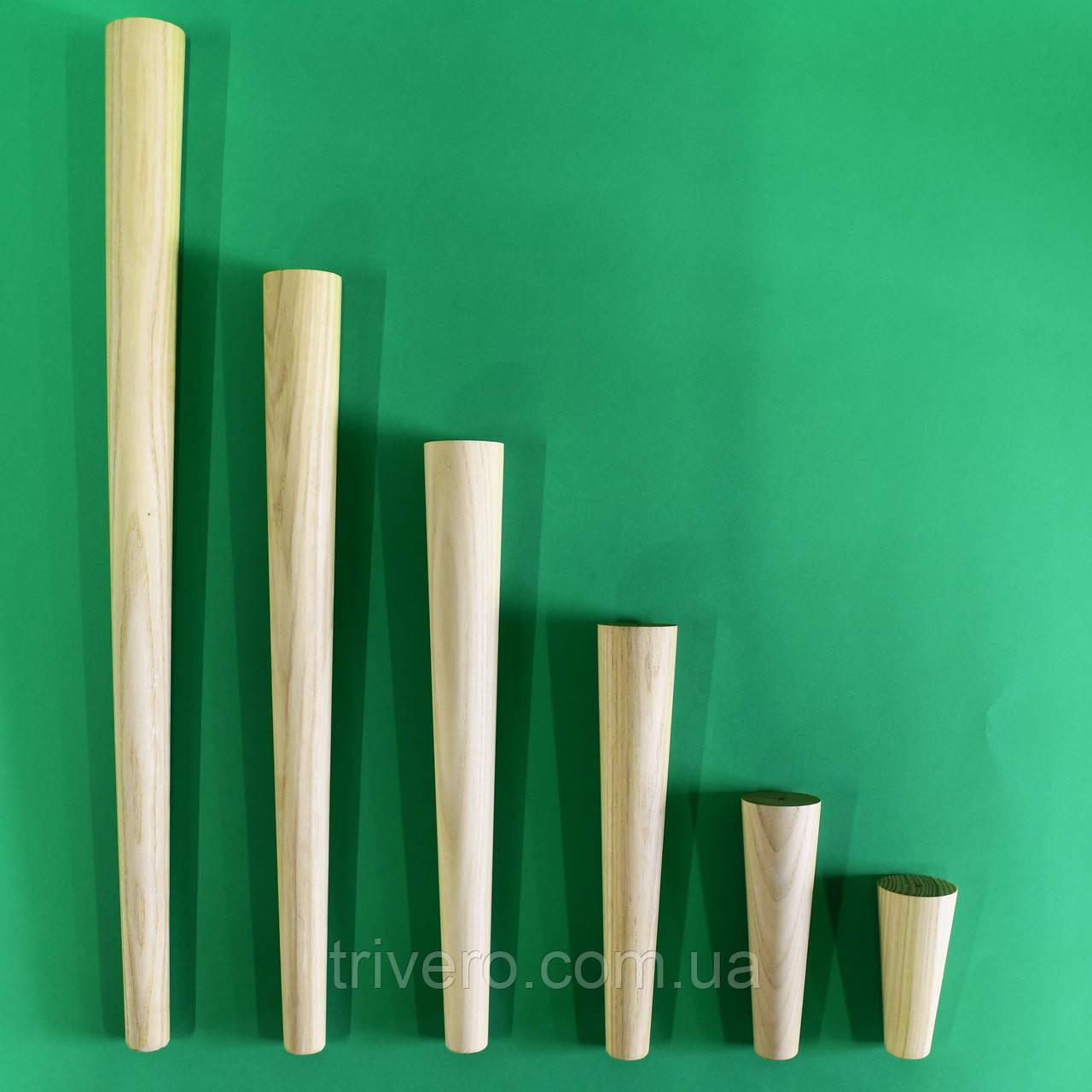 NM-01. Конусные мебельные ножки и опоры деревянные H.100-600 D.45-25