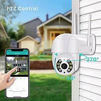 Наружная поворотная уличная Wifi камера IP PTZ 1080P 2M ICSEE XMEYE