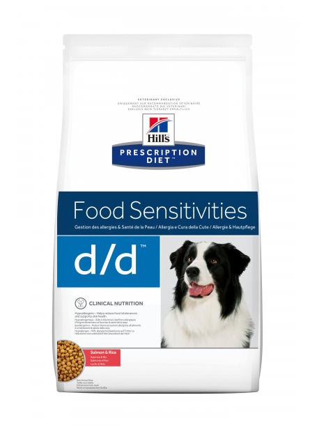 Корм Хіллс PD Canine D/D з лосоем та рисом, харчова чутливістсть, захворювання шкіри, 2 кг