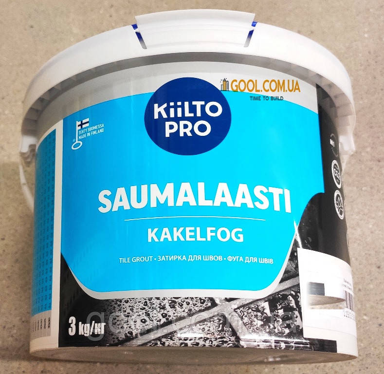 Затирка для швов плитки Kiilto Pro Saumalaasti цвет светло-серый № 43 ведро 3 кг.
